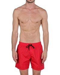 c9143e174d7b2 DIESEL Floral-print Swim Trunks in White for Men - Lyst