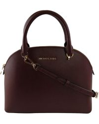 Michael Kors Dome Satchel Bag Emmy Saffiano-Leder Medium Handtasche - Mehrfarbig