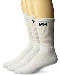 Helly Hansen Cotton Sport Socks (3 Pack) - White