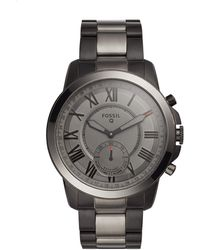 Fossil Ftw1139p Q Men's Grant Stainless Steel Hybrid Smartwatch - Grey