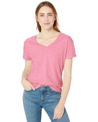 Goodthreads - Vintage Cotton Roll-Sleeve V-Neck T-Shirt Camiseta - Lyst