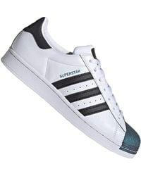 adidas - Uomo Superstar Sneaker Bianco - Lyst