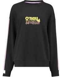 O'neill Sportswear Sweatshirt Oversize Cali Life Retro Stylish S - Schwarz