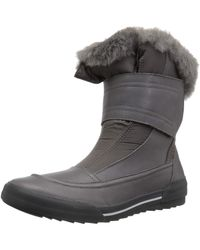 Clarks Gilby Merilyn Snow Boot, Gray Leather, 100 M Us