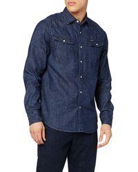 G-Star RAW 3301 Straight Long Sleeve Denim Shirt - Blue