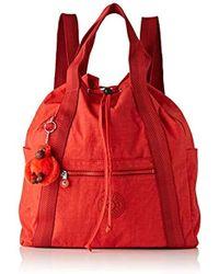 Kipling Art Backpack M, Sacs à dos femme - Rouge