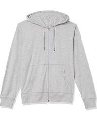 Amazon Essentials Lightweight Jersey Full-Zip Hoodie Fashion-Hoodies - Grigio