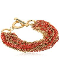 Kenneth Cole - Multi Chain Bracelet, Coral, One Size - Lyst