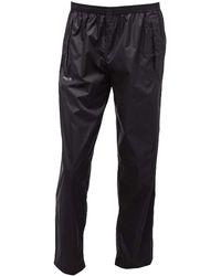 Regatta 100% Waterproof Over Trousers | Taped Seams Black