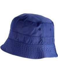 Superdry Nylon Reversible Bucket Hat Chapeau Melon - Bleu