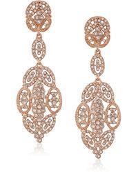 Nina S E-jules-r Drop Earrings - Metallic