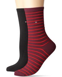 Tommy Hilfiger Th Small Stripe 2p Calcetines - Rojo