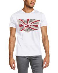 Pepe Jeans Flag Logo Camiseta - Blanco
