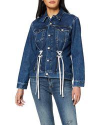 Calvin Klein Foundation Trucker Denim Jacket - Blue