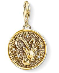 Thomas Sabo - S s-Charm-Pendentif Signe Zodiacal Capricorne Charm Club Argent Sterling 925 plaqué or jaune 18 carats 1661-414-39 - Lyst