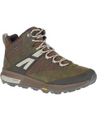 Merrell Zion Mid Gtx Leisure Time And Sportwear Boots - Brown