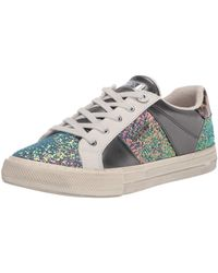 Guess Womens Loven3 Sneaker - Multicolore