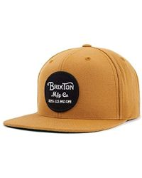 Brixton - Wheeler Medium Profile Adjustable Snapback Hat - Lyst