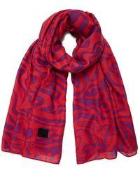 Desigual S Fou_Camiseta Fucsia Fashion Scarf - Rot