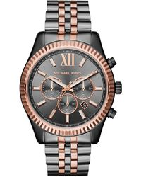 Michael Kors Chronograph Quarz Uhr mit Edelstahl Armband MK8561 - Mehrfarbig