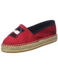 789954048a4 TH Sequins Espadrille, Alpargata para Mujer - Rojo