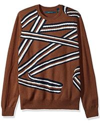 Perry Ellis - All Over Printed Crew Sweater - Lyst