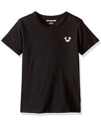 True Religion - Little Boys' Branded Logo T-shirt, Budda Black, 4 - Lyst