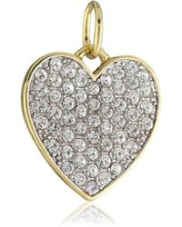 Juicy Couture - Large Crystal Heart Charm - Lyst