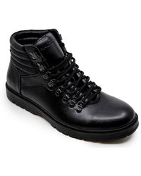 Nautica Alize Work Boot, Ankle High Lace-Up Snow Hikers-Black-13 - Noir