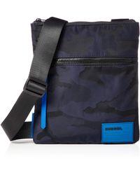 DIESEL Bag F-Discover X04813 Camo Blue - Bleu