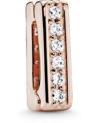PANDORA Plaqué or Espaceur pour charms et perles - 787633CZ - Métallisé
