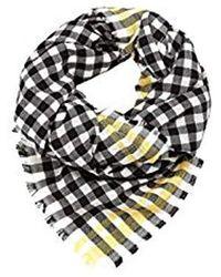 Esprit Oversized Schal mit Karo-Muster - Schwarz
