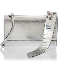 Calvin Klein Ckj Banner Shoulder Flap Bag - Gris