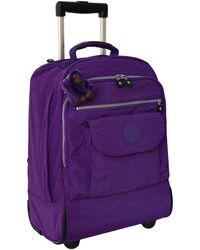 Kipling Sanaa Wheeled Backpack - Viola