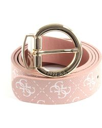 Guess Reversible and Adjustable Belt Aline W95 Rosewood - raccourcie