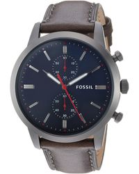 Fossil - Chronographe Quartz Montre avec Bracelet en Cuir FS5378 - Lyst