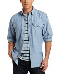 Carhartt - Big & Tall Fort Long Sleeve Shirt Lightweight Chambray Button Front Relaxed Fit S202 - Lyst