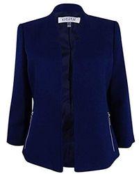 Kasper - Petite Size Mandarin Collar Textured Flyaway Jacket - Lyst