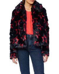 Tommy Hilfiger Nola Star Fur Coat - Multicolour