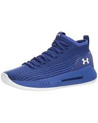 Under Armour UA Heat Seeker, Chaussures de Basketball - Bleu