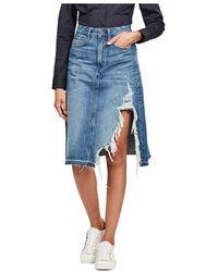 G-Star RAW 3301 A-line Midi Skirt - Blue
