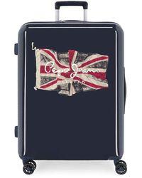 Valise Trolley Cabine Pepe Jeans Bristol Flag Gris