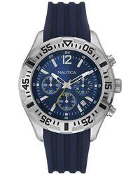 Nautica Orologio Analogico Quarzo Uomo con Cinturino in Silicone 8.4341E+12 - Blu