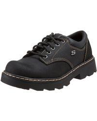 Skechers Mate Black Scuff Resistant Leather