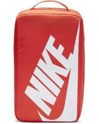 Nike Shoe Box Bag One Size Orange White