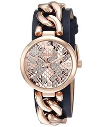 Steve Madden - S Alloy Case & Band Watch - Lyst