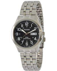 Seiko Pulsar PXN181X1 Analogue Stainless Steel Bracelet Watch - Nero