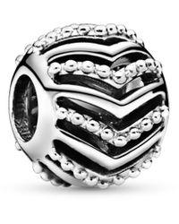 PANDORA Argent Charms et perles - 797805 - Métallisé