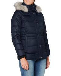 Tommy Hilfiger Th Ess Tyra Down Jkt With Fur Jacket - Red