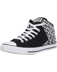 Converse Chuck Taylor All Star Street Wordmark High Top Trainer - Black